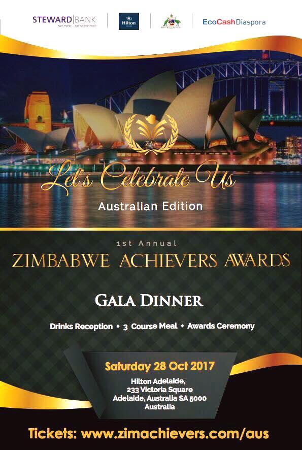 Zimbabwe Achievers Awards & Gala Dinner (SA) | ZAA (promoter) | Sat 28th October 2017