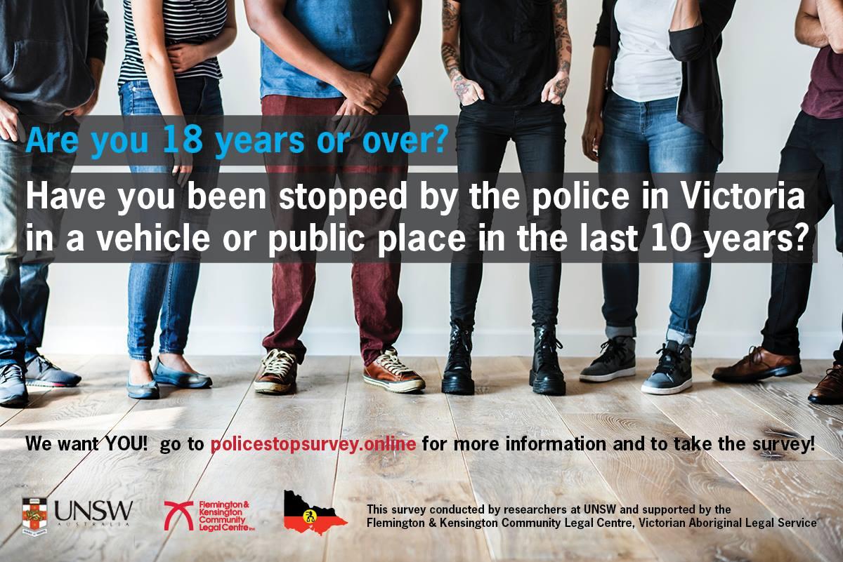 UNSW Police stop survey, Victoria