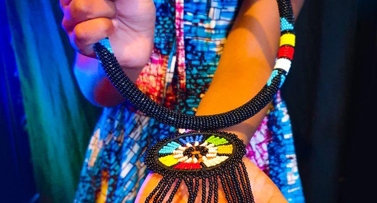 Maasai Fashion Necklace Black